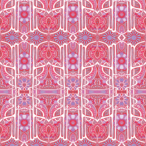Nouveau Deco Sixties Mash Up Garden fabric by edsel2084 on Spoonflower - custom fabric