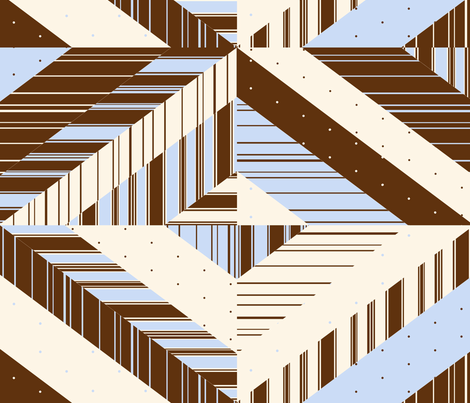 Classic Stripe & Polka Dot Quilt fabric by pond_ripple on Spoonflower - custom fabric