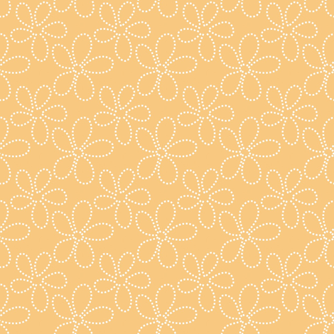 gold ditsy dot flowers fabric by vo_aka_virginiao on Spoonflower - custom fabric