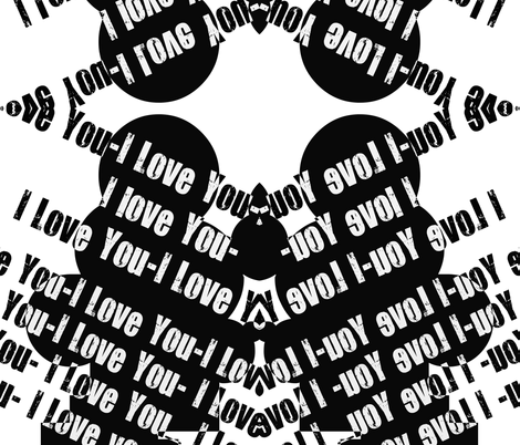 I Love You fabric by whimzwhirled on Spoonflower - custom fabric