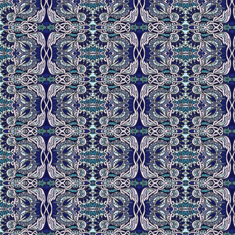 Tangled Blue Midnight Star fabric by edsel2084 on Spoonflower - custom fabric