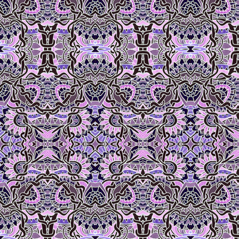 The Pink and the Purple with Black fabric by edsel2084 on Spoonflower - custom fabric