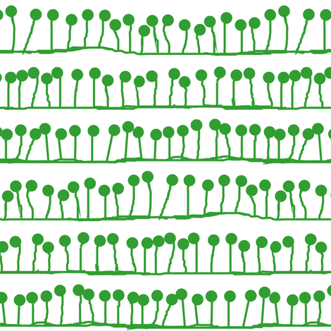 Big Sprout, in Pea fabric by wiccked on Spoonflower - custom fabric