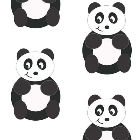 PandaKite fabric by purple11 on Spoonflower - custom fabric