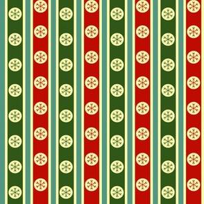 Snowflake Stripe - Traditional Colourway