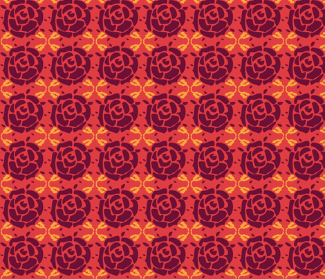 Roses_red fabric by valmo on Spoonflower - custom fabric