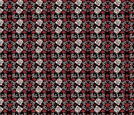 Roses_black fabric by valmo on Spoonflower - custom fabric