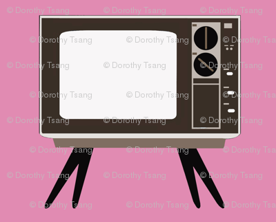 Retro TV Pink Background