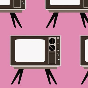 Retro TV Pink Background