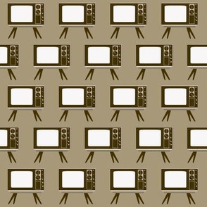 Retro Television Gray Background
