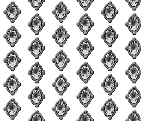 Cameo Girl fabric by nezumiworld on Spoonflower - custom fabric