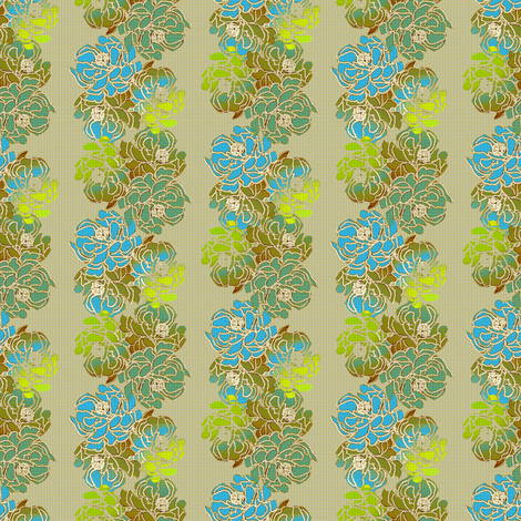 Romantic Asian in spring green fabric by joanmclemore on Spoonflower - custom fabric