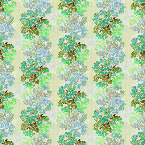 Romantic Asian in soft blue green fabric by joanmclemore on Spoonflower - custom fabric