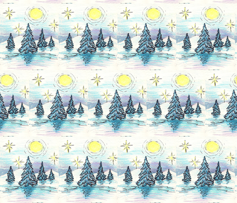 winter_night fabric by vinkeli on Spoonflower - custom fabric