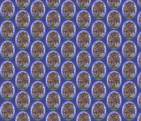 The_Family_of_Owls_and_the_night_tree fabric by vinkeli on Spoonflower - custom fabric