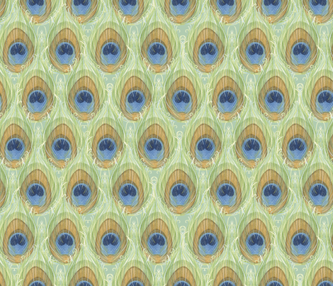 Feather_Pattern fabric by nicoletamarin on Spoonflower - custom fabric