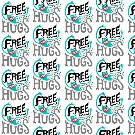 Free Hugs fabric by andibird on Spoonflower - custom fabric