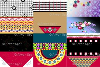International Friends Handkerchief Dolls (wide fabric)