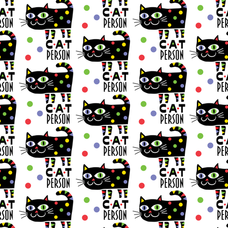 Cat Person fabric by andibird on Spoonflower - custom fabric