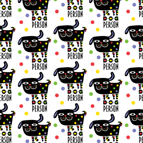 Dog Person fabric by andibird on Spoonflower - custom fabric