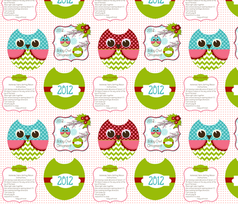 Owls ornaments fabric by natitys on Spoonflower - custom fabric