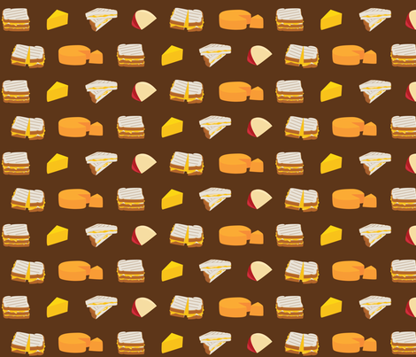 Cheesy Goodness fabric by wildnotions on Spoonflower - custom fabric
