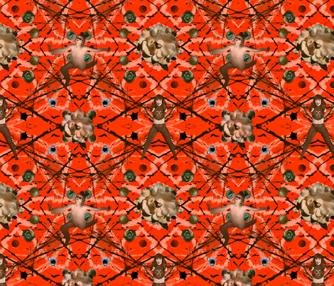 Riveting Roses and Quirky Girls fabric by tallulahdahling on Spoonflower - custom fabric