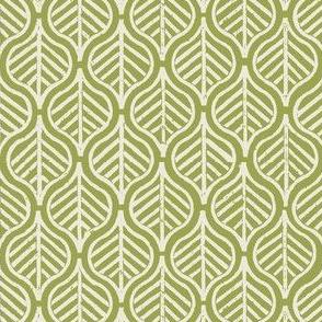 Indian Leaf / Grass & Natural (Inverted)