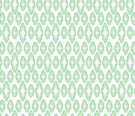 ikat - mint fabric by ravynka on Spoonflower - custom fabric