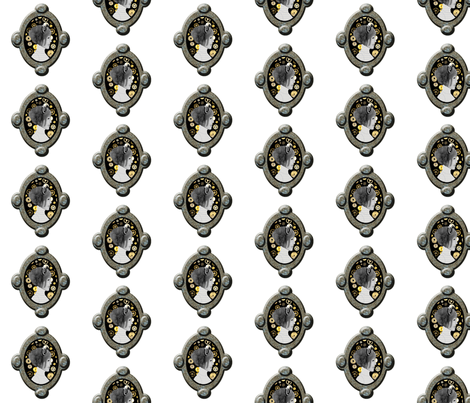 Cameo Girl with cogs fabric by nezumiworld on Spoonflower - custom fabric