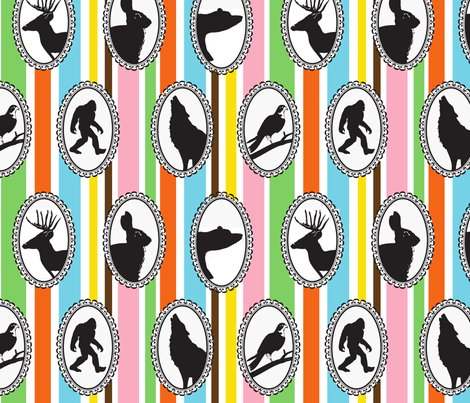 cameos fabric by christy_kay on Spoonflower - custom fabric