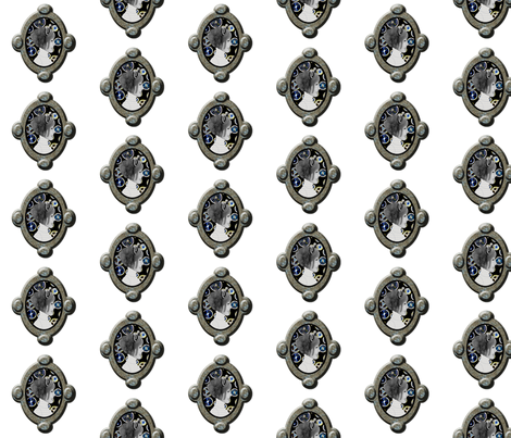 Cameo Girl with Electric Cogs fabric by nezumiworld on Spoonflower - custom fabric