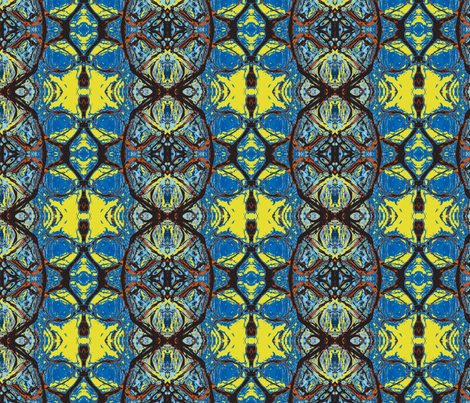 Cheops of the Fourth Dynasty fabric by susaninparis on Spoonflower - custom fabric