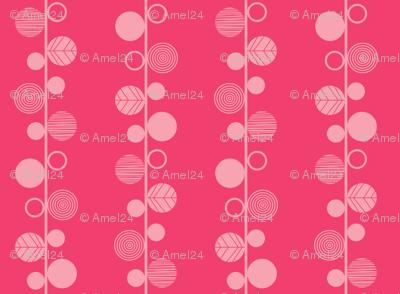 linear leaves bright wallpaper dark pink