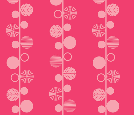 linear leaves bright wallpaper dark pink fabric by amel24 on Spoonflower - custom fabric