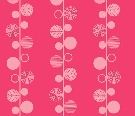 linear leaves bright wallpaper dark pink fabric by amel24 on Spoonflower - custom fabric