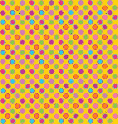 Chalk DOTS gold Polka Dots