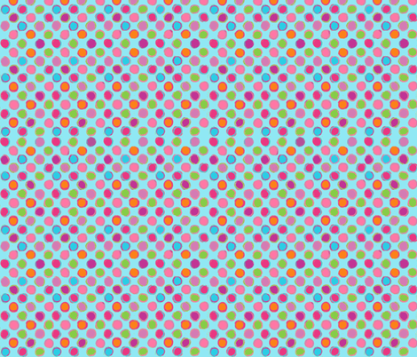 Chalk DOTS aqua POLKA dots fabric by parisbebe on Spoonflower - custom fabric