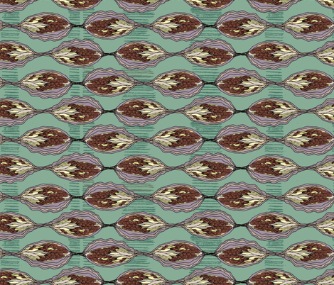 Purple Pod Beauties II fabric by gsonge on Spoonflower - custom fabric
