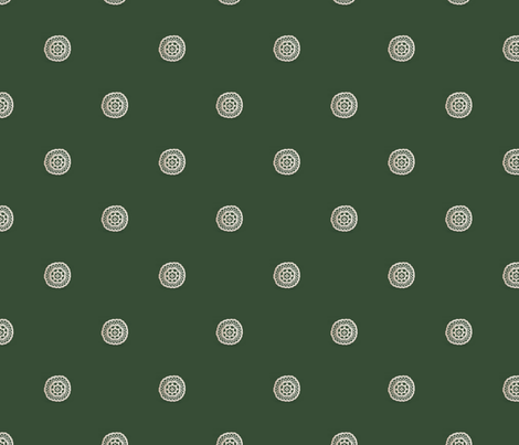 lace_circle_on_green fabric by vinkeli on Spoonflower - custom fabric