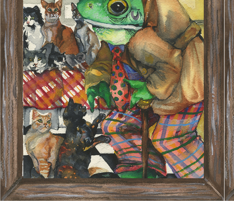 Hermit, a frog fabric by ceanirminger on Spoonflower - custom fabric