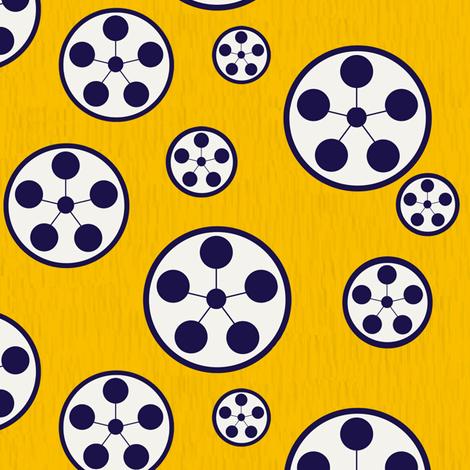 Circle Stars fabric by gimlet on Spoonflower - custom fabric