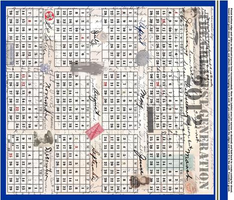 Greatest Generation 2012 Tea-Towel Calendar fabric by veritybrown on Spoonflower - custom fabric
