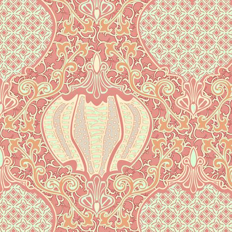 romano 34 curvy fabric by glimmericks on Spoonflower - custom fabric