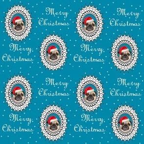 pug christmas fabric
