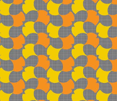 Autumn Ginkgo 1A fabric by nekineko on Spoonflower - custom fabric