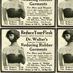 1918 Dr Walter's Medicated Rubber Garments Ad