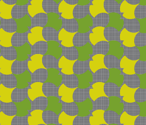 Spring Ginkgo 1A fabric by nekineko on Spoonflower - custom fabric