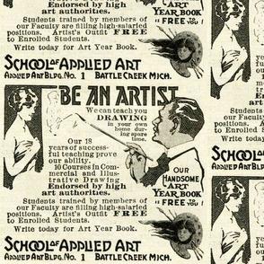 1918 Art School Advertisement