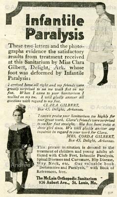 1918 Medical Quackery advertisement: polio cure